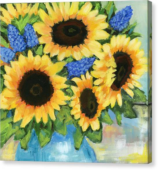 A Sunny Arrangement Canvas Print