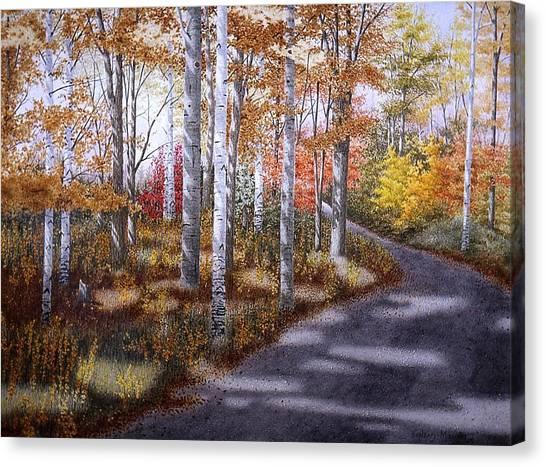 A Sunny Autumn Day Canvas Print by Conrad Mieschke