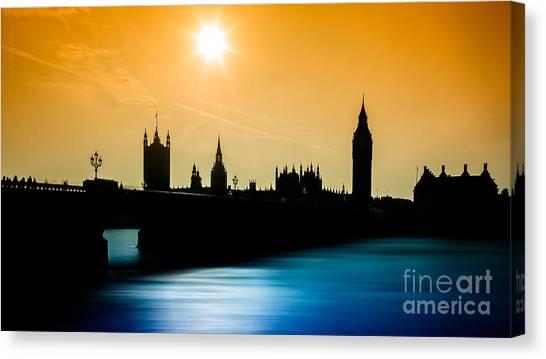 A Sunny Shape Canvas Print