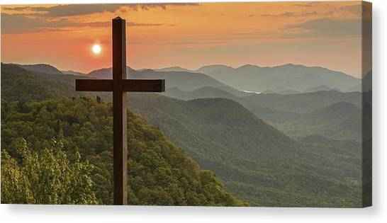A Sunrise View From Pretty Place Greenville Sc Canvas Print by Willie Harper