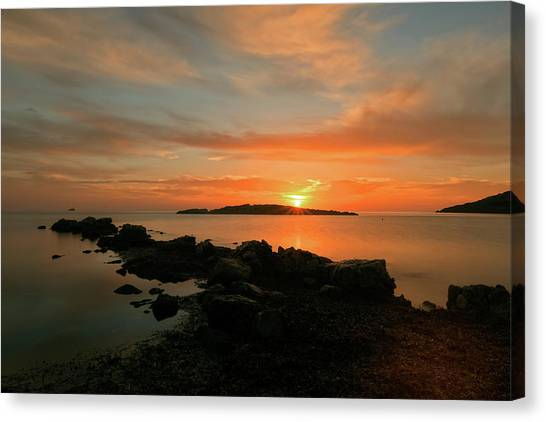 A Sunset In Ibiza Canvas Print