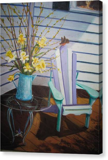A Surpise Visitor Canvas Print by Gloria Condon
