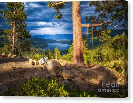 A Swing With A View Canvas Print