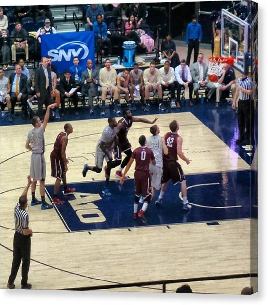 Foul Canvas Print - A Swish On Another #foul Shot For #gwu by Matt Sweetwood