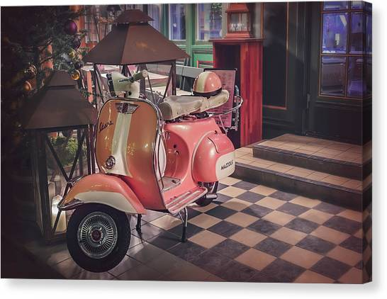 Classic Cycle Canvas Print - A Taste Of Italy by Carol Japp