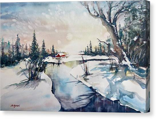 A Taste Of Winter Canvas Print