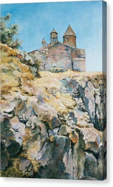 A Temple On The Rock Canvas Print