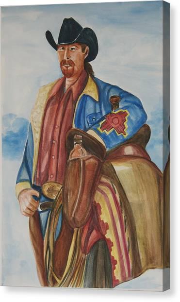 A Texas Horseman Canvas Print by George Chacon