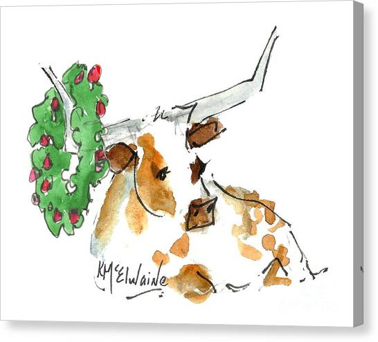 A Texas Welcome Christmas Canvas Print