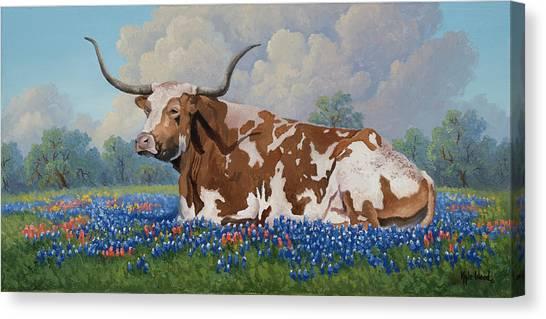 A Texas Welcome Canvas Print