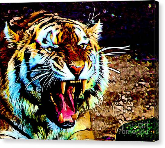 A Tiger's Roar Canvas Print