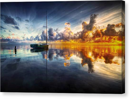 A Time For Reflection Canvas Print by Mark Yugawa