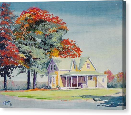A Touch Of Fall Canvas Print by Barry Smith