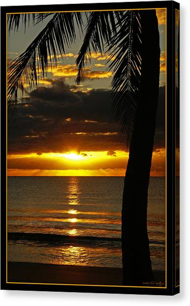Beach Sunrises Canvas Print - A Touch Of Paradise by Holly Kempe