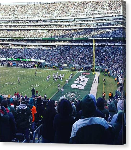 Touchdown Canvas Print - A #touchdown 21-0 #nyjets #miavsnyj by Matt Sweetwood