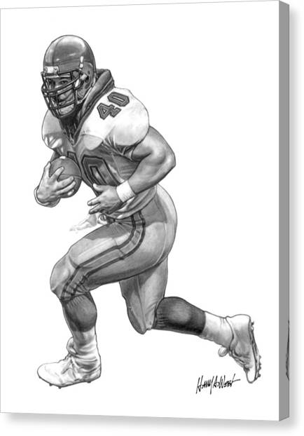 Running Backs Canvas Print - A-train by Harry West