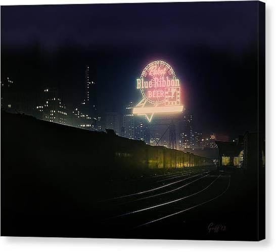 A Train's A Comin' 1948 Canvas Print