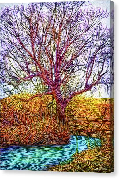 A Tree Greets Springtime Canvas Print