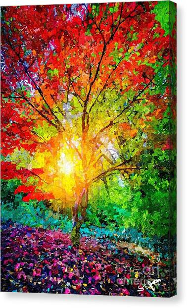A Tree In Glory Canvas Print