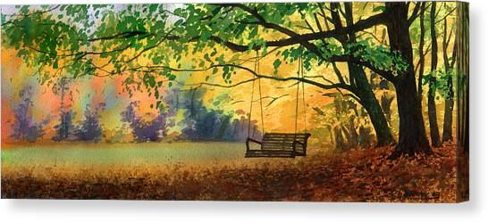 A Tree Swing Canvas Print