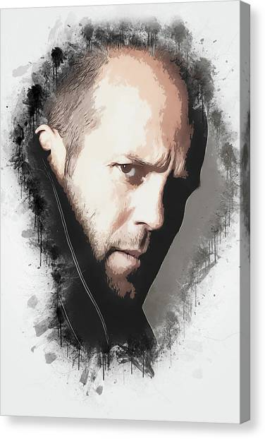 Hollywood Canvas Print - A Tribute To Jason Statham by Dusan Naumovski