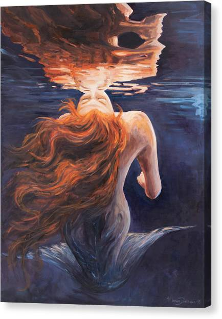 Water Canvas Print - A Trick Of The Light - Love Is Illusion by Marco Busoni