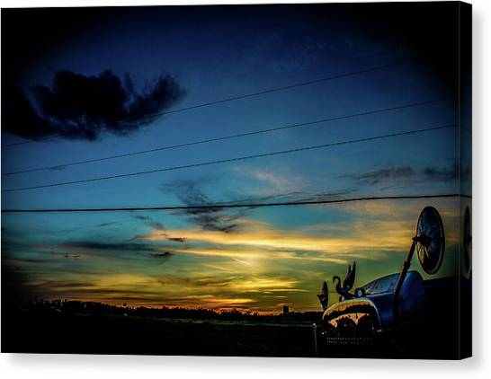 A Trucker's View Canvas Print