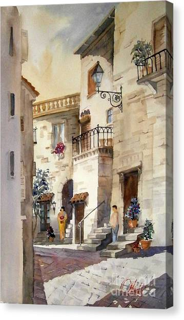 A Tuscan Street Scene Canvas Print