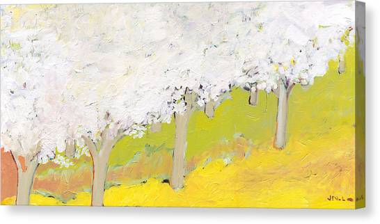 Fruit Trees Canvas Print - A Valley In Bloom by Jennifer Lommers