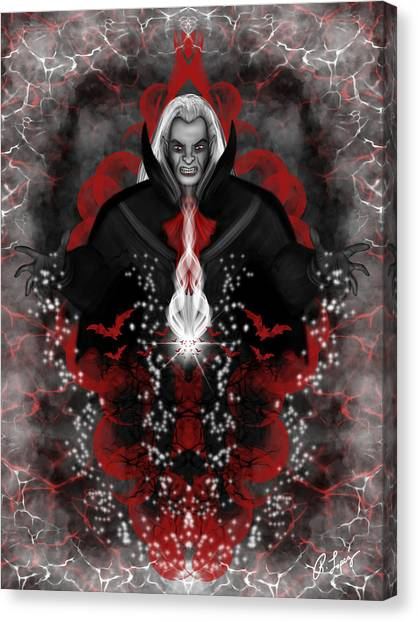 A Vampire Quest Fantasy Art Canvas Print