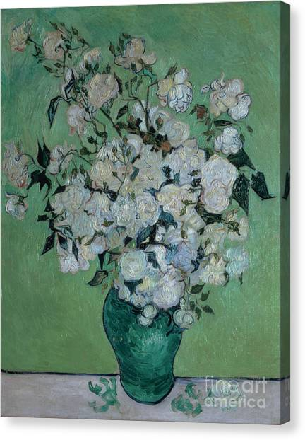 Painters Canvas Print - A Vase Of Roses by Vincent van Gogh