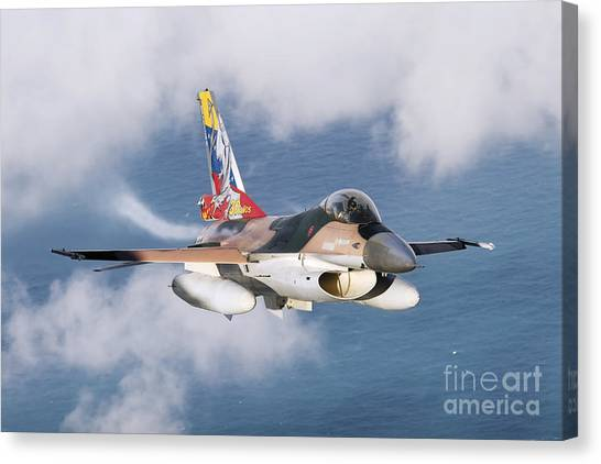 Venezuelan Canvas Print - A Venezuelan Air Force F-16a Flying by Daniele Faccioli