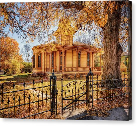 A Victorian Autumn Canvas Print