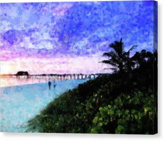 A View At Naples Pier Canvas Print