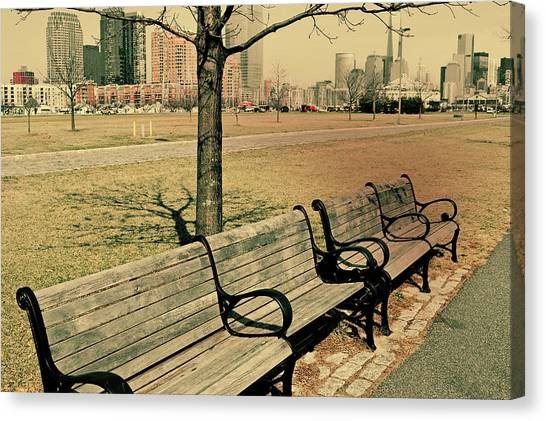 A View From A Park Bench Canvas Print by JAMART Photography