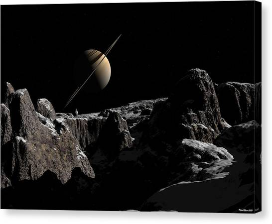 A View From Iapetus Canvas Print