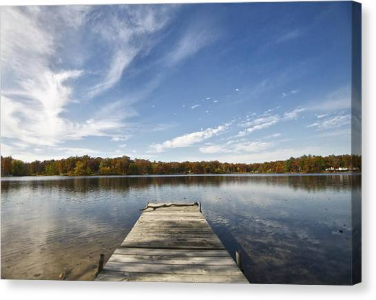 A View From The Dock Canvas Print