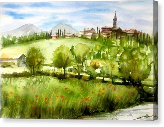 A View From Tuscany Canvas Print