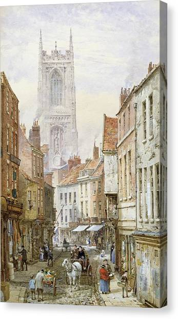 House Of Worship Canvas Print - A View Of Irongate by Louise J Rayner