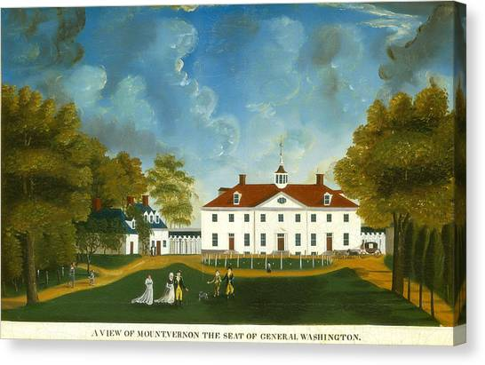 Canvas Print - A View Of Mount Vernon by American 18th Century