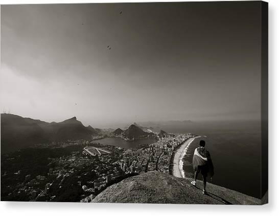 Rio De Janeiro Skyline Canvas Print - A View Of Rio De Janeiro by Mark Nowoslawski