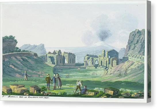 The Amphitheatre Canvas Print - A View Of The Amphitheatre by MotionAge Designs