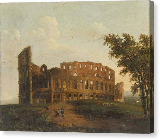 The Colosseum Canvas Print - A View Of The Colosseum by Celestial Images