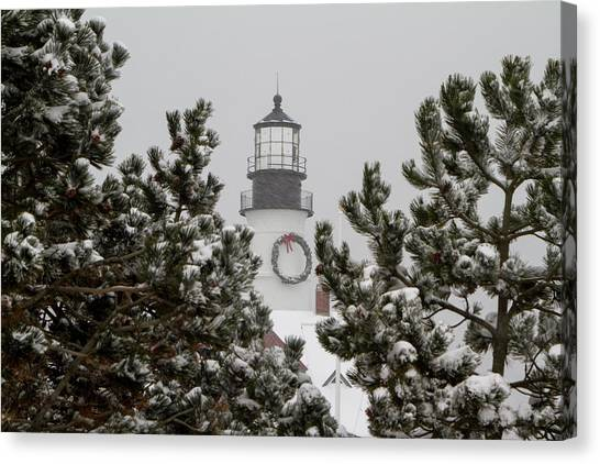 A View Of The Portland Head Light Canvas Print