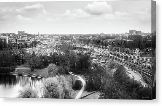 Gent Canvas Print - A View On Ghent by Wim Lanclus