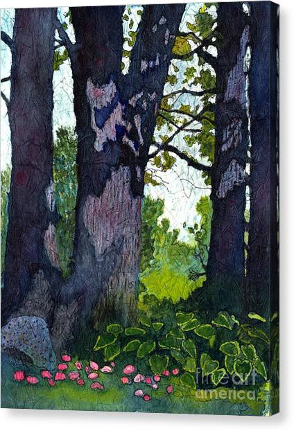 A View Through The Trees Watercolor Batik Canvas Print