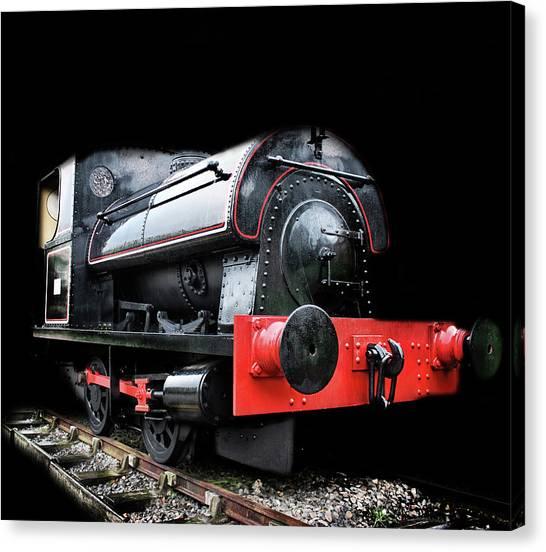 Steam Trains Canvas Print - A Vintage Steam Train by Martin Newman