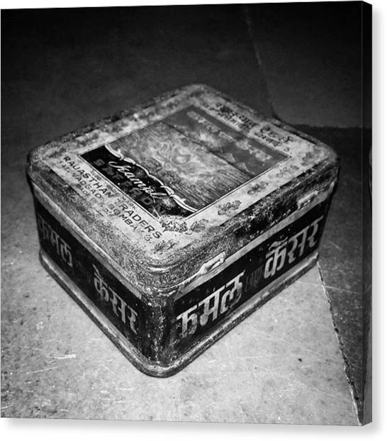 Grandpa Canvas Print - A #vintage #tinbox Of #kamal #brand by Rahul Gupta