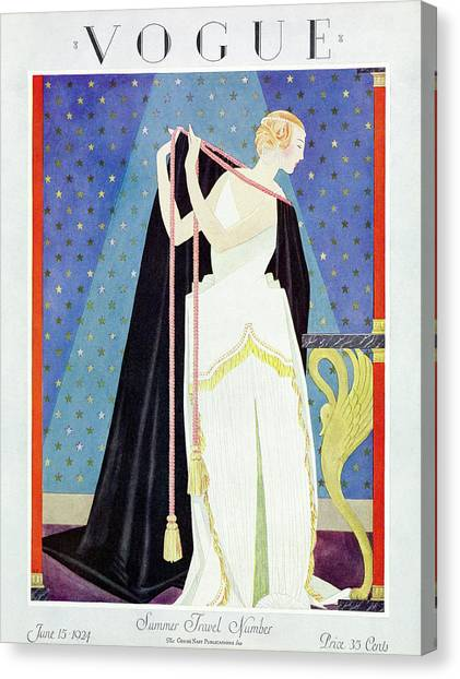 A Vintage Vogue Magazine Cover From 1924 Canvas Print