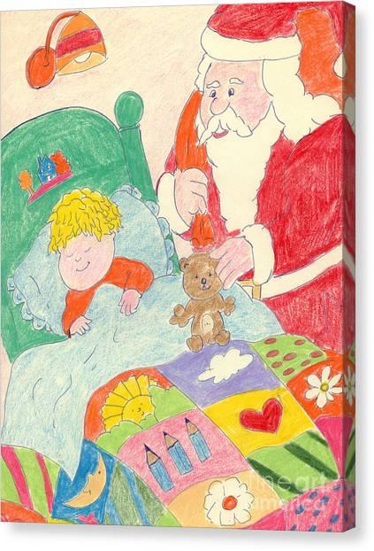 A Visit From Santa Canvas Print